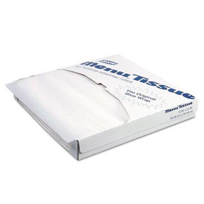 "Dixie 862491 Menu Tissue Untreated Paper Sheets, 12"" x 12"", White  - 10000 / Case"