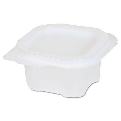 Dixie 87220 4 oz Plastic Liddles Portion Cups with Attached Lids, Clear - 900 / Case