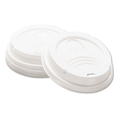 Dixie 9538DX Plastic Drink-Thru Lid for 8 oz Hot Drink Cups, White - 1000 / Case