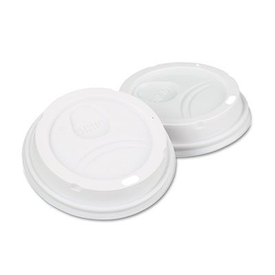 Dixie 9542500DX Dome Lids for PerfecTouch 10, 12 & 16 oz Cups, White - 500 / Case