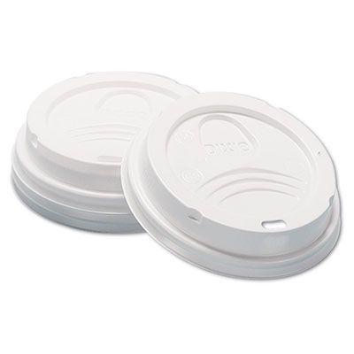 Dixie D9538 Plastic Dome Lids for 8 oz Hot Cups, White - 1000 / Case