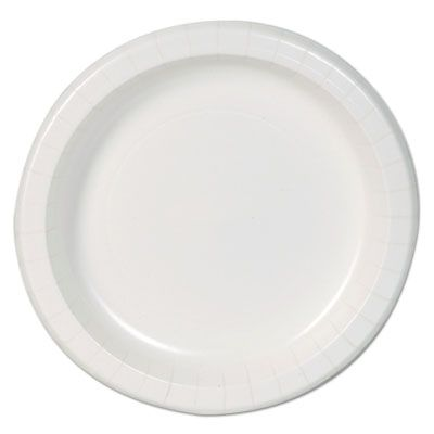 """Dixie DBP09W 8.5"""" Paper Plates, Coated, White - 500 / Case"""