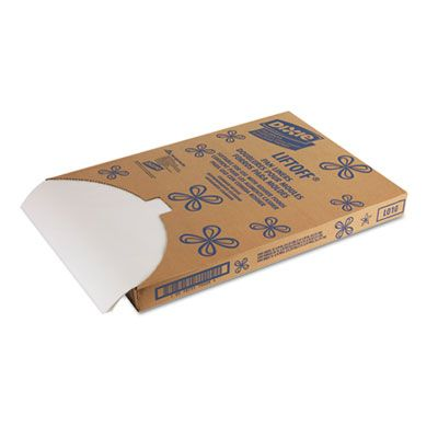"Dixie LO10 Greaseproof Liftoff Baking Pan Liners, 16-3/8"" x 24-3/8"", White - 1000 / Case"
