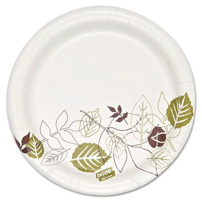 """Dixie SXP6PATH Ultra 5-7/8"""" Pathways Coated Paper Plates, Heavyweight - 1000 / Case"""