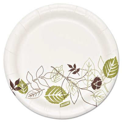 "Dixie SXP6WS Ultra 5-7/8"" Pathways Coated Paper Plates, Heavyweight - 500 / Case"