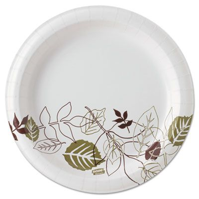 """Dixie SXP9PATH Ultra 8.5"""" Pathways Coated Paper Plates, Heavyweight, Wisesize - 500 / Case"""