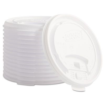 Dixie TB9542 Plastic Lids for 12 & 16 oz Hot Drink Cups, White - 1000 / Case