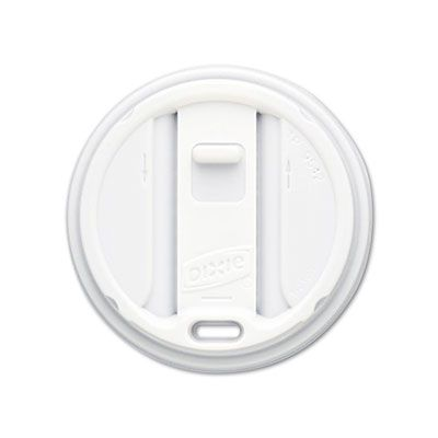Dixie TP9542 Smart Top Reclosable Lid for 12-16 oz Hot Cups, White - 1000 / Case