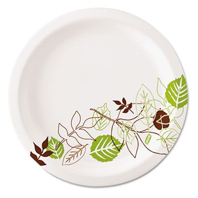 "Dixie UX7PATH 6-7/8"" Pathways Paper Plates, Coated, Heavy Weight - 1000 / Case"