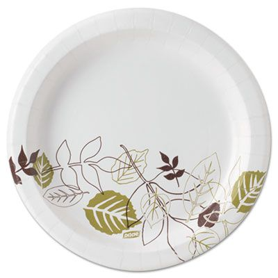 """Dixie UX9PATH 8.5"""" Pathways Paper Plates, Coated, Heavy Weight - 1000 / Case"""