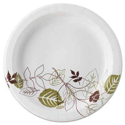 """Dixie UX9PATHPB 8.5"""" Pathways Coated Paper Plates in Dispenser Box - 300 / Case"""