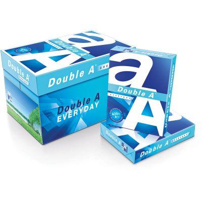 "Double A 851120 Copy Paper, 20 lb, 96B, 8-1/2"" x 11"", White - 5000 / Case"