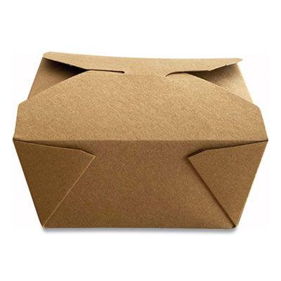 """Dura TTGCK1 Paper Take Out Boxes, 4.37"""" x 3.5"""" x 2.52"""", Kraft - 450 / Case"""