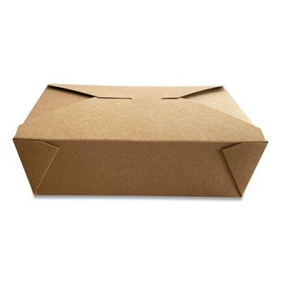 """Dura TTGCK3 Paper Takeout Boxes, 7.75"""" x 5.51"""" x 2.48"""", Kraft - 200 / Case"""