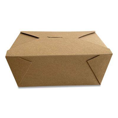 """Dura TTGCK4 Paper Take Out Boxes, 7.87"""" x 5.51"""" x 3.54"""", Kraft - 160 / Case"""