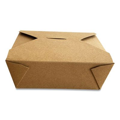"""Dura TTGCK8 Paper Take Out Boxes, 5.98"""" x 4.72"""", x 2.51"""", Kraft - 300 / Case"""