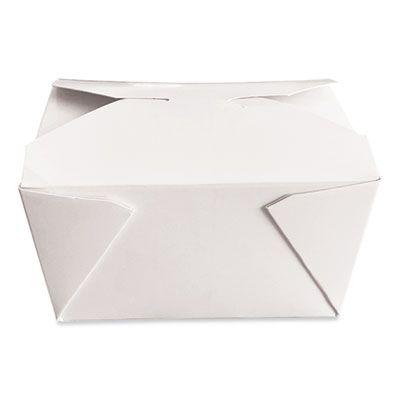 """Dura TTGCW1 Paper Take Out Boxes, 4.37"""" x 3.5"""" x 2.52"""", White - 450 / Case"""