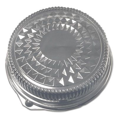 "Durable Pkg 12DL Plastic Dome Lids for 12"" Catering Trays - 50 / Case"