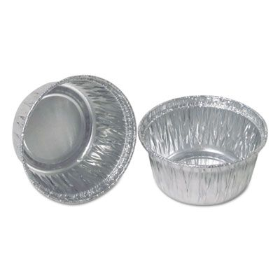 Durable Pkg 140030 4 oz Aluminum Foil Portion Cups, Silver - 1000 / Case