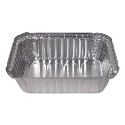 """Durable Pkg 24530500 1.5 lb Oblong Aluminum Foil Pan Containers, Deep, 23 oz, 7-1/16"""" x 5-1/8"""" x 1-15/16"""" - 500 / Case"""