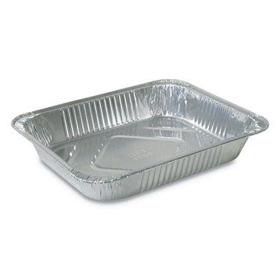 """Durable Pkg 4255100 Half Size Aluminum Foil Steam Table Pans, 10-3/8"""" x 12-3/4"""" x 2-3/16"""" - 100 / Case"""