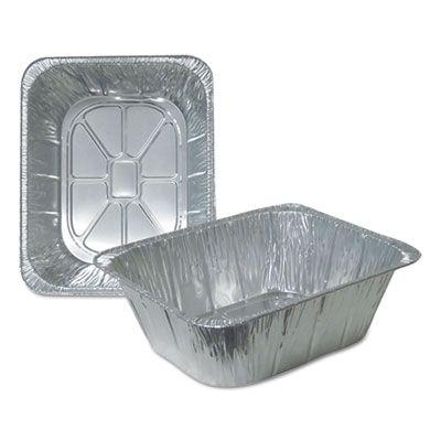 """Durable Pkg 4288100 Half Size Aluminum Foil Steam Table Pans, 195 oz, 10-5/16"""" x 4-3/16"""" x 12-11/16"""" - 100 / Case"""