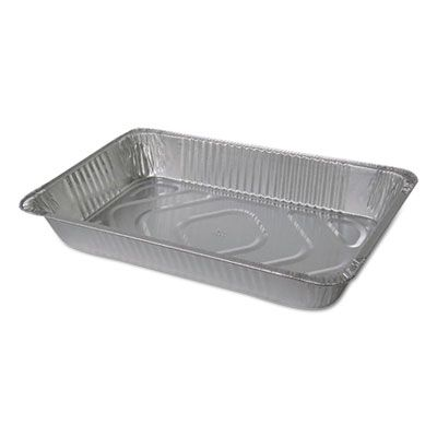 """Durable Pkg 605050 Half Size Aluminum Foil Steam Table Pans, Deep, 346 oz, 20-3/4"""" x 12-13/16"""" x 3-3/8"""" - 50 / Case"""