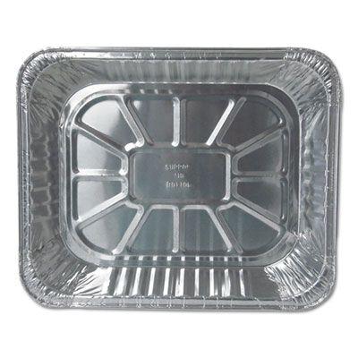 """Durable Pkg 6132100 Half Size Aluminum Foil Steam Table Pans, Deep, 120 oz, 12-3/4"""" x 10-3/8"""" x 2-9/16"""" - 100 / Case"""