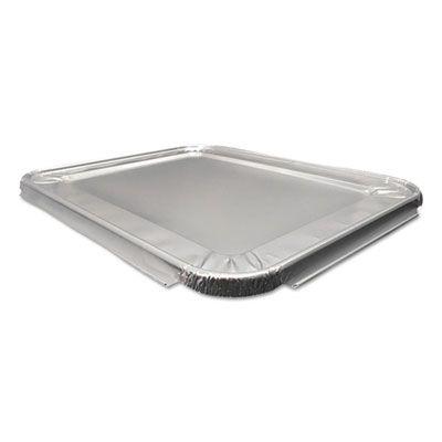 """Durable Pkg 8200100XX Aluminum Foil Lids for Half Size Steam Table Pans, 13"""" x 10-9/16"""" x 5/8"""" - 100 / Case"""