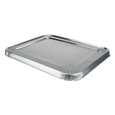 """Durable Pkg 8200CRL Aluminum Foil Lids for Half Size Steam Table Pans, 10-9/16"""" x 5/8"""" - 100 / Case"""
