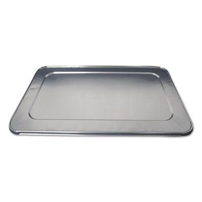 """Durable Pkg 890050 Aluminum Foil Lids for Full Size Steam Table Pans, 12-7/8"""" x 5/8"""" x 20-13/16"""" - 50 / Case"""