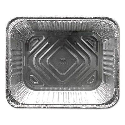 """Durable Pkg FS4200XX Half Size Aluminum Foil Steam Table Pans, 120 oz, 12-3/4"""" x 10-3/8"""" x 2-9/16"""" - 100 / Case"""