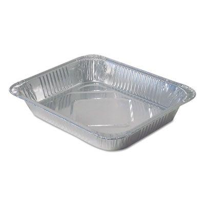 """Durable Pkg FS4255100 Half Size Aluminum Foil Steam Table Pans, 104 oz, 12-3/4"""" x 10-3/8"""" x 2-3/16"""" - 100 / Case"""