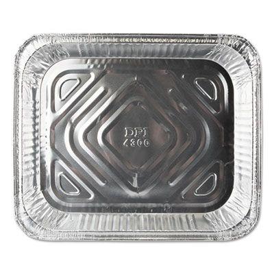 """Durable Pkg FS4300100 Half Size Aluminum Foil Steam Table Pans, 79.5 oz, 12-3/4"""" x 10-3/8"""" x 1-11/16"""" - 100 / Case"""