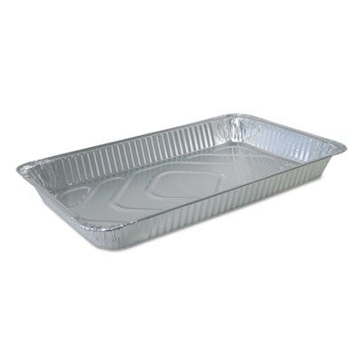 """Durable Pkg FS780070 Full Size Aluminum Foil Steam Table Pans, 228 oz, 20-3/4"""" x 12-13/16"""" x 2-3/16"""" - 50 / Case"""