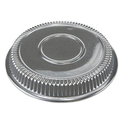 """Durable Pkg P290500 Plastic Dome Lids for 9"""" Round Aluminum Pans, Clear - 500 / Case"""
