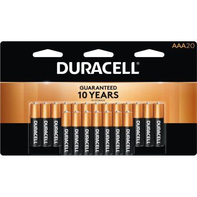 Duracell MN2400B20 Coppertop Alkaline Batteries, AAA Size, 20 / Pack - 1 / Case