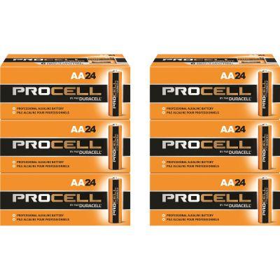 Duracell PC1500BKD Procell Alkaline Batteries, AA Size - 144 / Case