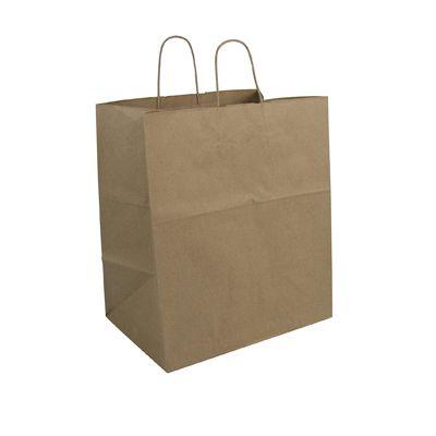 "Duro 28632 Econo Mart Paper Shopping Bags, 50#, 13"" x 7"" x 17"", Kraft - 250 / Case"