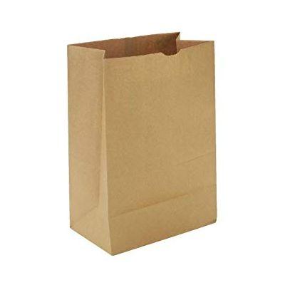 "Duro GK12500 12 lb Paper Grocery Bags, 40#, 7-1/16"" x 4-1/2"" x 13-3/4"", Kraft - 500 / Case"