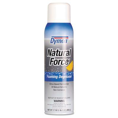 Dymon 36120 Natural Force Foaming Degreaser, Citrus, 17 oz Aerosol Spray - 12 / Case