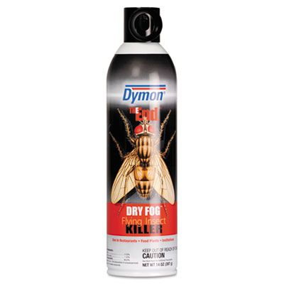 Dymon 45120 The End Dry Fog Flying Insect Killer, 14 oz Aerosol Spray Can - 12 / Case