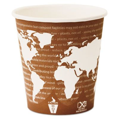 Eco-Products EPBHC10WA 10 oz World Art Paper Hot Cups, PLA-Lined - 1000 / Case