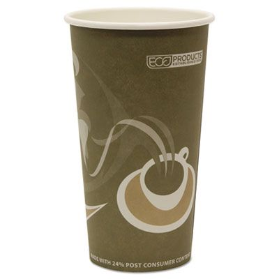Eco-Products EPBRHC20EW 20 oz Hot Cups, Recycled Paper - 1000 / Case