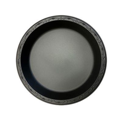 "Ecopax PP091-BK 9"" Pebble Plate, Minerals / Polypropylene, Black - 400 / Case"
