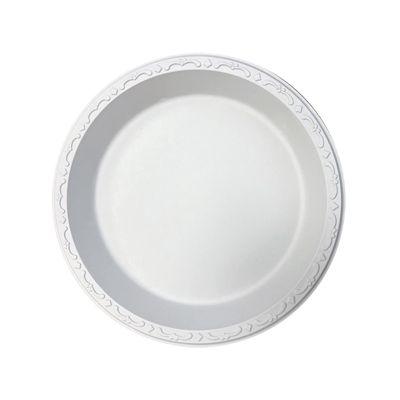 "Ecopax PP101 10.25"" Pebble Plates, Minerals / Polypropylene, Ivory - 400 / Case"