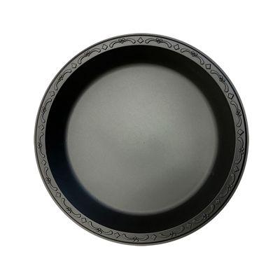 """Ecopax PP101-BK 10.25"""" Pebble Plates, Minerals / Polypropylene, Black - 400 / Case"""