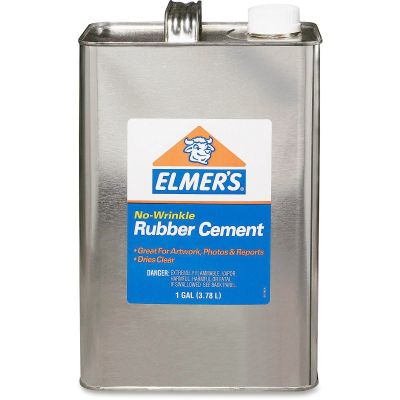 Elmer's 234 No-Wrinkle Rubber Cement, Acid-free, Photo Safe, 1 Gallon Can - 1 / Case