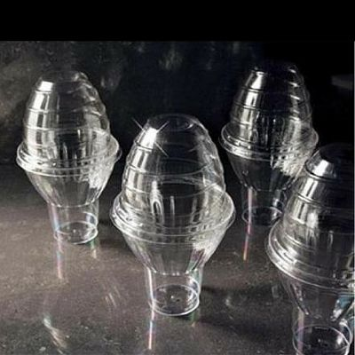 EMI Yoshi EMI-PGDLP Dome Lid for Parfait Glasses, Plastic, Clear - 240 / Case