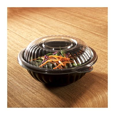 EMI Yoshi EMI-PTB9L Lids for 48 oz PrepServe Serving Bowls, PET Plastic, Clear - 50 / Case
